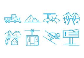 Vecteur d'icône de station de ski gratuit