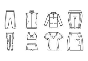Vecteur d'icônes de vêtements sport gratuit