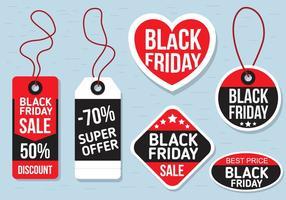 Étiquettes de vendredi noir vecteur libre