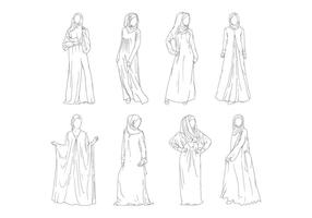 Abaya Fashion Vector gratuit