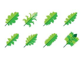 Vecteur gratuit d'icône de feuille d'acanthus