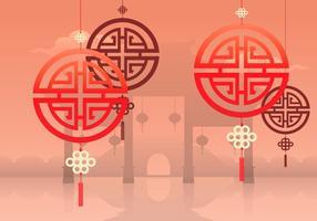 Chinese Town Illustration vecteur