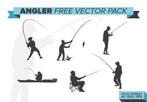 Pack de vecteur gratuit pour pêcheur