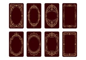 Vecteur gratuit de conception de cartes de tarot