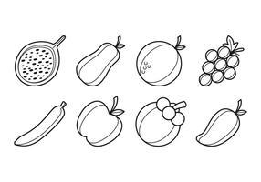 Vecteur gratuit d'icônes de fruits