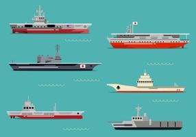 Vecteur de porte-avions gratuit