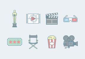 Icône de l'industrie du film gratuit vecteur