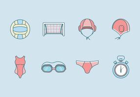 Vecteur libre d'icônes de water polo