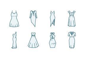 Icône de robe de demoiselle d'honneur vecteur