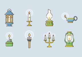 Icônes gratuites de vecteur de lampe