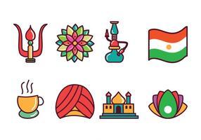 Icônes libres de l'Inde vecteur