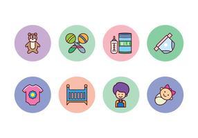 Ensemble d'icônes pour bébé gratuit