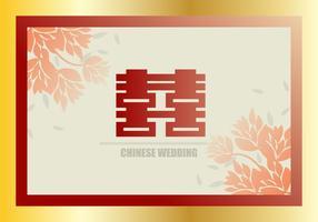 Fond d'invitation chinoise de mariage de mi-automne vecteur