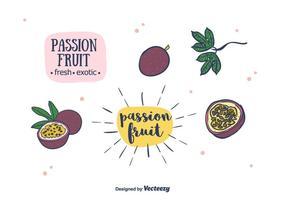 Vecteur de fruits de la passion