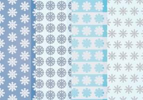 Patrons de flocons de neige vectoriels