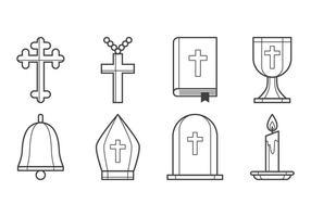Vecteur icône chrétienne gratuit
