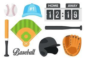 Vector d'élément de baseball gratuit