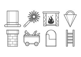 Vecteur d'icône de cheminée gratuit