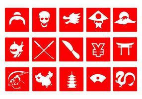 Vecteur japonais gratuit d'icônes