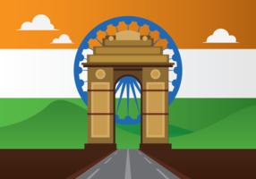 Vecteur de porte de l'Inde