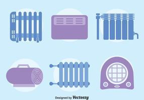 Système de refroidissement et de chauffage à domicile vecteur
