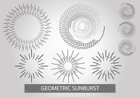Ensemble vectoriel géométrique Sunburst