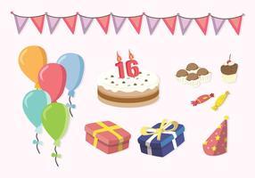 Free Sweet 16 icons vecteur