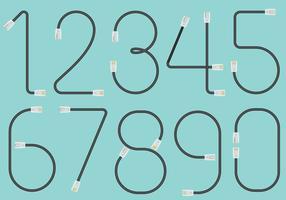 Numéros de câble RJ45 vecteur