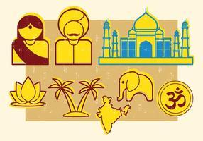 Symboles indiens vecteur