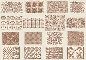 Textures toile marron vecteur