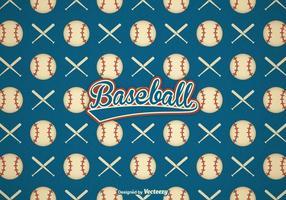 Fond de vecteur de baseball rétro gratuit