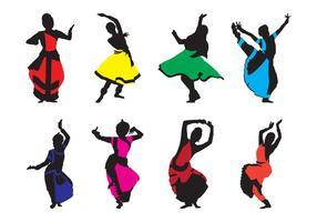 Gratuit vecteur de danse indienne traditionnelle