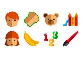 Vector d'icônes pré-scolaire gratuit