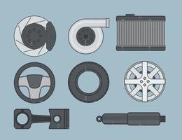 Icône du service automobile vecteur