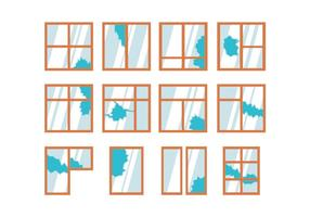 Vector de fenêtre cassée