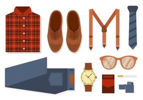 Vecteur de mode et accessoires rétro gratuit