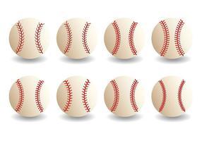 Vecteur libre d'icônes de lacets de baseball