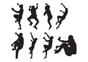 Vector de silhouettes de grimpeur gratuit