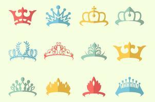 Vecteur gratuit de concours de couronnes