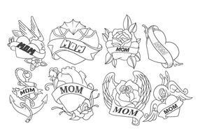 Vecteur de tatouage maman gratuit
