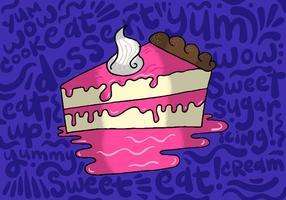 Tranche de tarte vecteur
