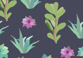 Aloe vera motif sombre vecteur