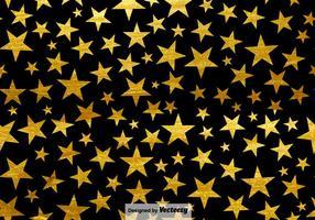 Fond noir avec des étoiles Pattern sans couture vecteur