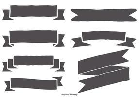 Ensemble de ruban à dessin dessiné à la main vecteur