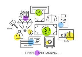 Icônes bancaires gratuites vecteur