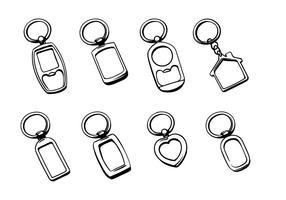 Vecteurs Porte-clés en Argent