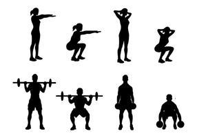 Vecteur libre d'icônes squat