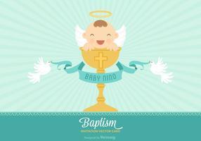 Carte d'invitation gratuite Bautizo Vector