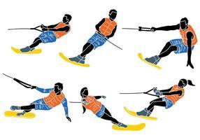 Vecteur d'icônes de ski nautique gratuit