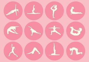 12 vecteurs de pose de yoga vecteur